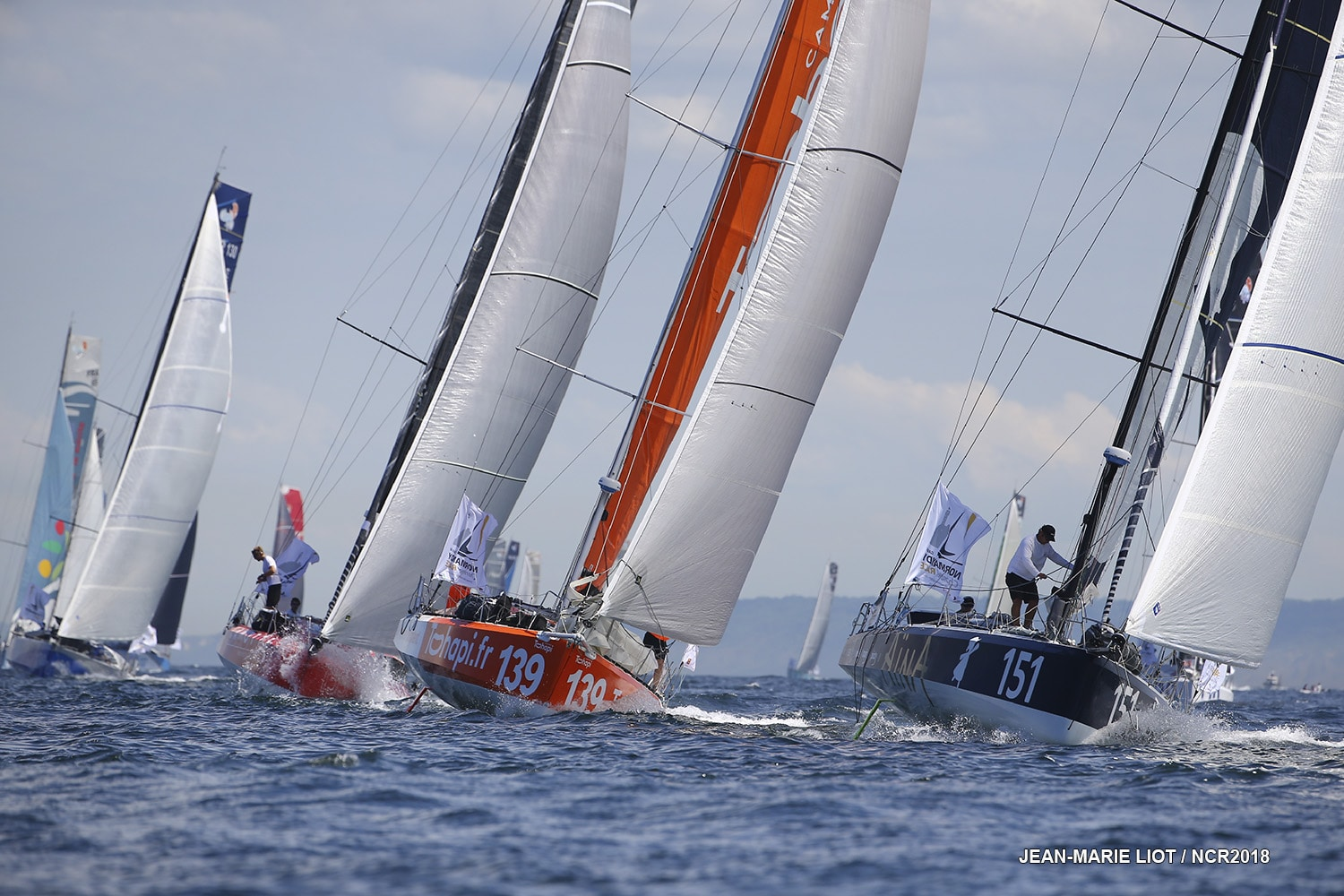 2018, NORMANDY CHANNEL RACE, NCR 2018, CLASS 40, DOUBLE HANDED, DOUBLE, depart